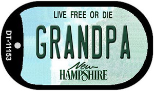 Grandpa New Hampshire Wholesale Novelty Metal Dog Tag Necklace DT-11153