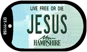 Jesus New Hampshire Wholesale Novelty Metal Dog Tag Necklace DT-11158