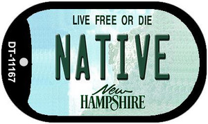Native New Hampshire Wholesale Novelty Metal Dog Tag Necklace DT-11167