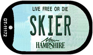 Skier New Hampshire Wholesale Novelty Metal Dog Tag Necklace DT-11172