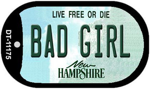 Bad Girl New Hampshire Wholesale Novelty Metal Dog Tag Necklace DT-11175