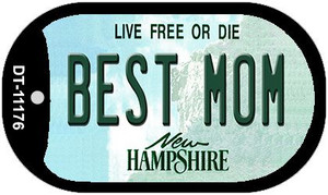 Best Mom New Hampshire Wholesale Novelty Metal Dog Tag Necklace DT-11176