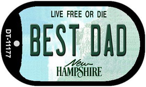 Best Dad New Hampshire Wholesale Novelty Metal Dog Tag Necklace DT-11177