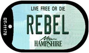 Rebel New Hampshire Wholesale Novelty Metal Dog Tag Necklace DT-11178