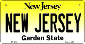New Jersey Wholesale Novelty Metal Bicycle Plate BP-10145