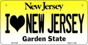 I Love New Jersey Wholesale Novelty Metal Bicycle Plate BP-10156