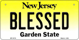 Blessed New Jersey Wholesale Novelty Metal Bicycle Plate BP-10174