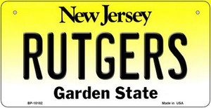 Rutgers New Jersey Wholesale Novelty Metal Bicycle Plate BP-10182