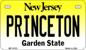 Princeton New Jersey Wholesale Novelty Metal Motorcycle Plate MP-10151