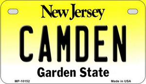 Camden New Jersey Wholesale Novelty Metal Motorcycle Plate MP-10152