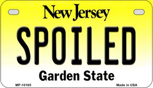 Spoiled New Jersey Wholesale Novelty Metal Motorcycle Plate MP-10165