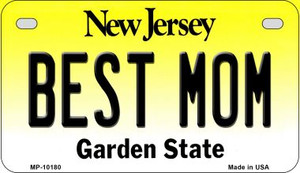 Best Mom New Jersey Wholesale Novelty Metal Motorcycle Plate MP-10180