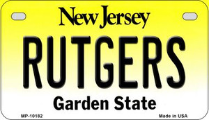 Rutgers New Jersey Wholesale Novelty Metal Motorcycle Plate MP-10182