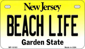 Beach Life New Jersey Wholesale Novelty Metal Motorcycle Plate MP-10183
