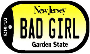 Bad Girl New Jersey Wholesale Novelty Metal Dog Tag Necklace DT-10179