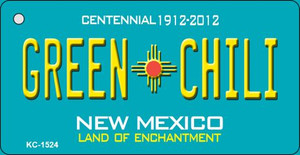 Green Chili Teal New Mexico Wholesale Novelty Metal Key Chain KC-1524
