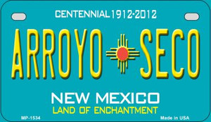 Arroyo Seco Teal New Mexico Wholesale Novelty Metal Motorcycle Plate MP-1534