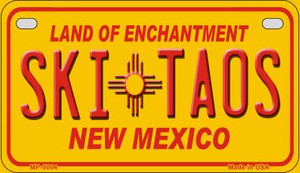 Ski Taos Yellow New Mexico Wholesale Novelty Metal Motorcycle Plate MP-5004