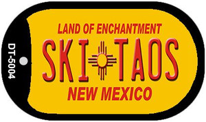Ski Taos Yellow New Mexico Wholesale Novelty Metal Dog Tag Necklace DT-5004