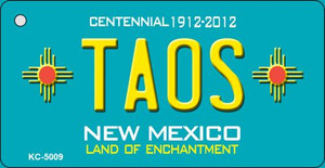 Taos Teal New Mexico Wholesale Novelty Metal Key Chain KC-5009