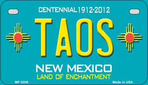 Taos Teal New Mexico Wholesale Novelty Metal Motorcycle Plate MP-5009