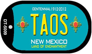 Taos Teal New Mexico Wholesale Novelty Metal Dog Tag Necklace DT-5009