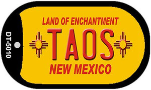 Taos Yellow New Mexico Wholesale Novelty Metal Dog Tag Necklace DT-5010
