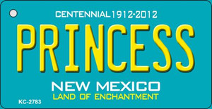 Princess Teal New Mexico Wholesale Novelty Metal Key Chain KC-2783