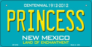 Princess Teal New Mexico Wholesale Novelty Metal Bicycle Plate BP-2783