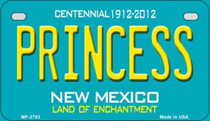 Princess Teal New Mexico Wholesale Novelty Metal Motorcycle Plate MP-2783