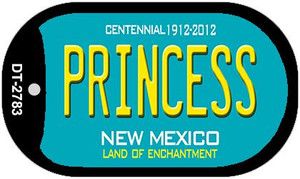 Princess Teal New Mexico Wholesale Novelty Metal Dog Tag Necklace DT-2783