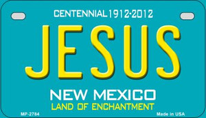 Jesus Teal New Mexico Wholesale Novelty Metal Motorcycle Plate MP-2784