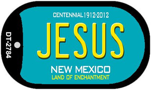 Jesus Teal New Mexico Wholesale Novelty Metal Dog Tag Necklace DT-2784