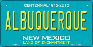 Albuquerque Teal New Mexico Wholesale Novelty Metal Bicycle Plate BP-2785