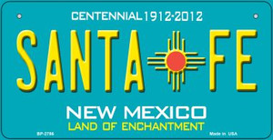 Santa Fe Teal New Mexico Wholesale Novelty Metal Bicycle Plate BP-2786