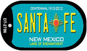 Santa Fe Teal New Mexico Wholesale Novelty Metal Dog Tag Necklace DT-2786