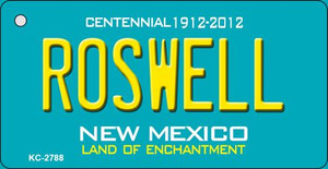 Roswell Teal New Mexico Wholesale Novelty Metal Key Chain KC-2788