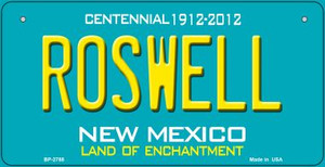 Roswell Teal New Mexico Wholesale Novelty Metal Bicycle Plate BP-2788
