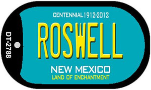 Roswell Teal New Mexico Wholesale Novelty Metal Dog Tag Necklace DT-2788