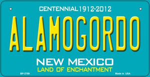 Alamogordo Teal New Mexico Wholesale Novelty Metal Bicycle Plate BP-2789