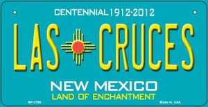 Las Cruces Teal New Mexico Wholesale Novelty Metal Bicycle Plate BP-2790