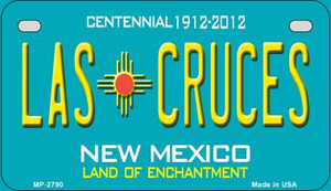 Las Cruces Teal New Mexico Wholesale Novelty Metal Motorcycle Plate MP-2790