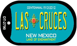 Las Cruces Teal New Mexico Wholesale Novelty Metal Dog Tag Necklace DT-2790