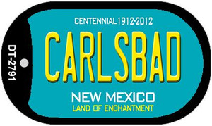 Carlsbad Teal New Mexico Wholesale Novelty Metal Dog Tag Necklace DT-2791