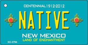 Native Teal New Mexico Wholesale Novelty Metal Key Chain KC-2794