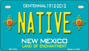 Native Teal New Mexico Wholesale Novelty Metal Motorcycle Plate MP-2794