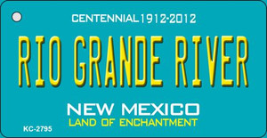 Rio Grande River Teal New Mexico Wholesale Novelty Metal Key Chain KC-2795