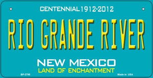 Rio Grande River Teal New Mexico Wholesale Novelty Metal Bicycle Plate BP-2795