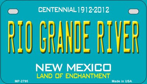 Rio Grande River Teal New Mexico Wholesale Novelty Metal Motorcycle Plate MP-2795