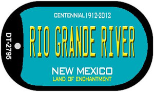 Rio Grande River Teal New Mexico Wholesale Novelty Metal Dog Tag Necklace DT-2795